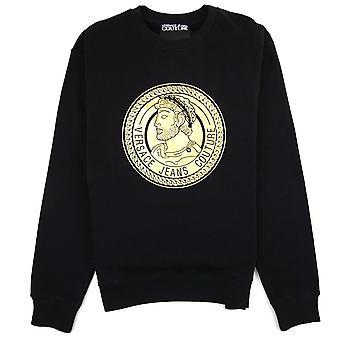 Versace Jeans Couture Medallion Foil Print Sweatshirt Black