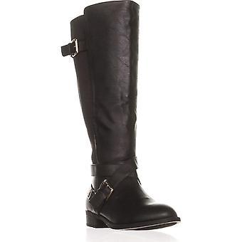 Thalia Sodi mulheres Vada rodada Toe joelho botas de equitação de alta
