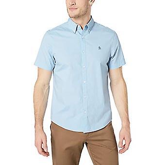 Original Penguin Men's Short Sleeve Core Poplin Button Down Shirt with Stretc...