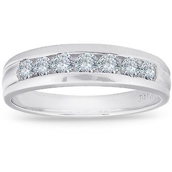 5 / 8ct diamante boda 14K oro blanco anillo de aniversario