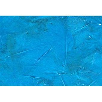LAST FEW - 5g Turquoise Fluffy Feathers for Crafts