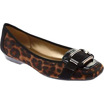 Anne Klein Womens Uma Leather Square Toe Loafers