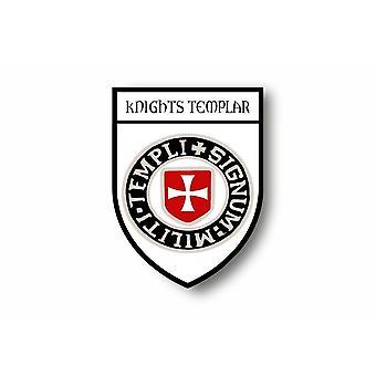 Sticker sticker motorfiets auto Blason vlag Templar Ridderkruis tocht
