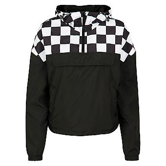 Urban Classics Ladies Oldschool College Jacket blkwht