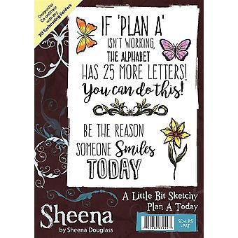 Sheena Douglass een beetje vaag A6 rubber stempel set-plan een vandaag