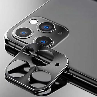 iPhone 11 Pro - 11 Pro Max θήκη μαύρο κάμερα φακό προστάτη - μέταλλο