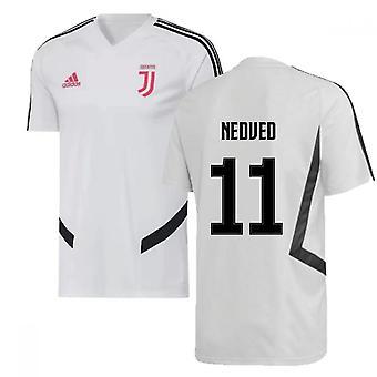 2019-2020 יובנטוס אדידס הכשרה חולצת (לבן) (שהיה 11)