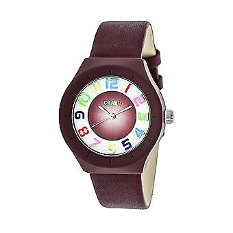 Crayo atômica unisex Watch-Maroon