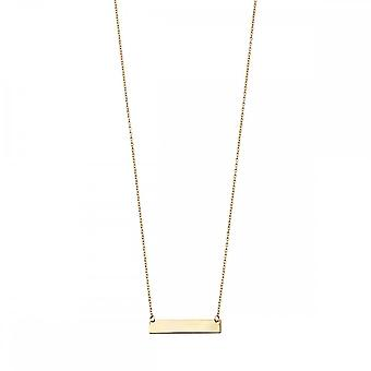 Elements Gold Yellow Gold Engravable Bar Necklace GN281