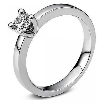 Diamond Ring Ring-18K 750 witgoud-0,36 CT.