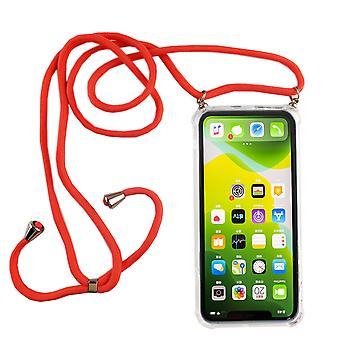 Telefonní náhrdelník pro Apple iPhone 11 pro max-telefon Smartphone náhrdelník s pásem karet s Pouzdrou pro zavěšení na růžovou
