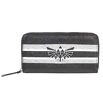Zelda Purse Black And White Stripes Hyrule Logo new Official Ninetendo