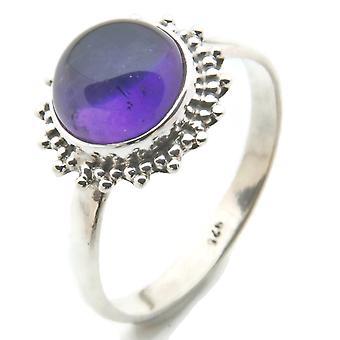 Amethyst Ring 925 hopea Sterling hopea naisten rengas violetti (MRI 95-01)