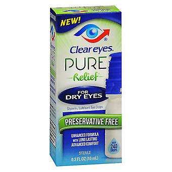 Clear eyes pure relief for dry eyes drops, 0.3 oz