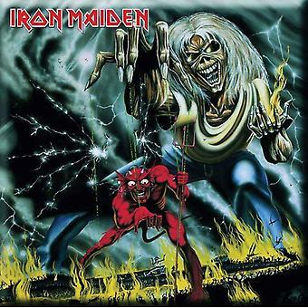 Iron Maiden frigo Magnet nombre de la bête nouveau officiel 76 mm x 76 mm