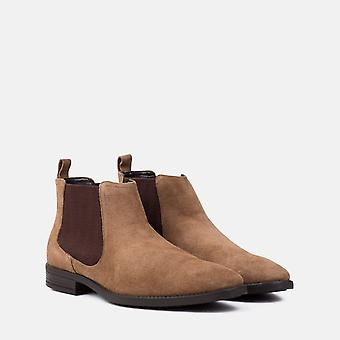 Doyle tan suede chelsea boot