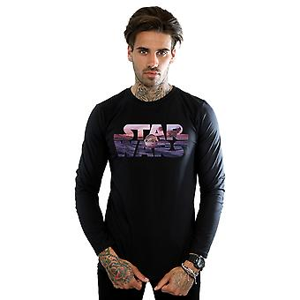 Star Wars Men's The Mandalorian The Child Logo Long Sleeved T-Shirt