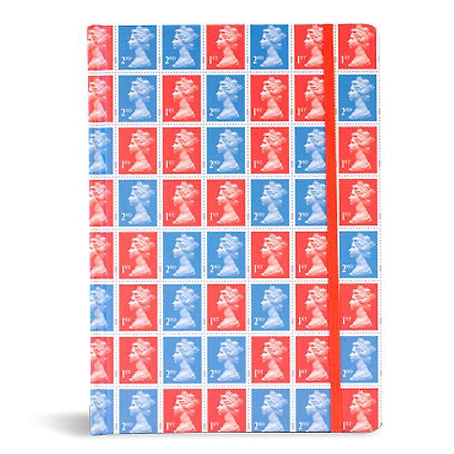 Red / Blue Stamp Notebook - A5 Hardback Stamp Collection