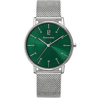 Sjekk Pierre Lannier 236C178-CITYLINE tier stål polert ringe grønt Milanese armbånd
