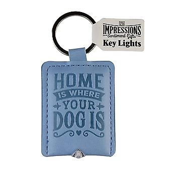 History & Heraldry Keyring - Dog Key Light