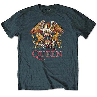 Grey Queen Crest Freddie Mercury Biran Mai T-Shirt officiel