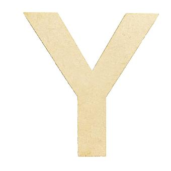 Wooden Large Capital Alphabet Letters - Y