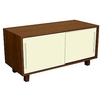 Fusion Living Modern Retro Walnut And Vanilla TV Table