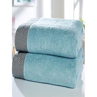 Getijde 2 stuk handdoek baal eend ei blauw