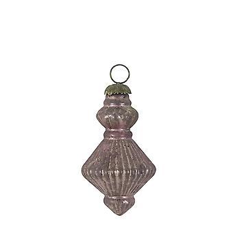 Lys & Levende Jul Bauble 14cm Knott Glass Okse Aubergine
