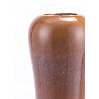 "6.3"" x 6.3"" x 21.7"" Brown, Ceramic, Tall Vase"