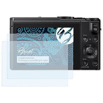 Bruni 2x näytönsuoja yhteensopiva Panasonic Lumix DMC-LX10 / LX15 suojakalvo