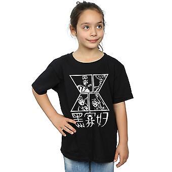 أعجوبة الفتيات الأسود الأرملة رمز تي شيرت