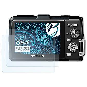 Bruni 2x Schutzfolie kompatibel mit Olympus TG-830 Folie