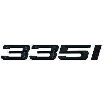 Matt Black BMW 335i Car Model Rear Boot Number Letter Sticker Decal Badge Emblem For 3 Series E36 E46 E90 E91 E92 E93 F30 F31 F34 G20