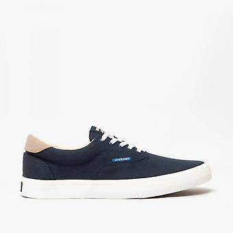 Jack & Jones Mork Canvas Mens Casual Trainers Navy Blazer