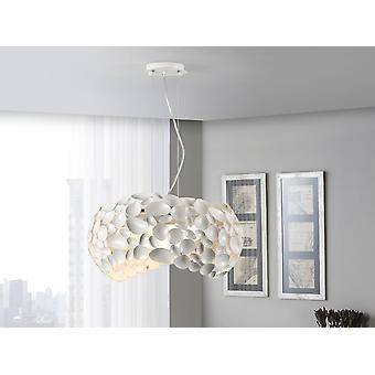 Schuller Narisa - Lâmpada de 5 luzes feitas de metal. Matt branco lacqued acabamento. Difusor acrílico interno. Ajustável em altura. - 266290