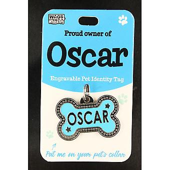 Wags & Whiskers Pet Identity Tag - Oscar