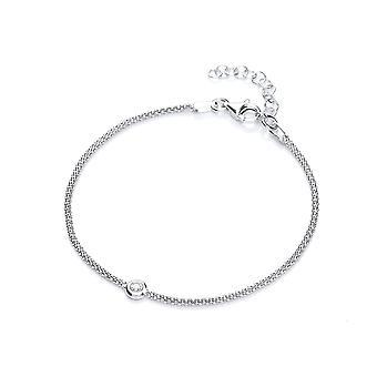 David Deyong Sterling Silver Popcorn Style Solitaire Bracelet