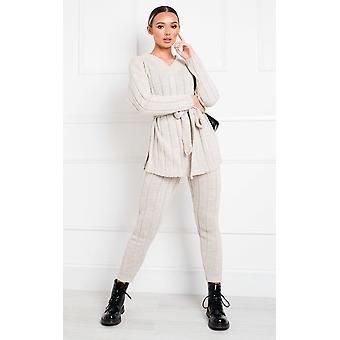 IKRUSH Womens Yazmine Cable Knit Lounge Co-ord