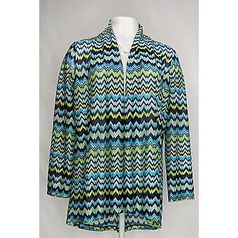 Susan graver vrouwen ' s trui Chevron nieuwigheid gebreid vest blauw A302635