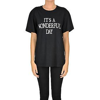 Alberta Ferretti Ezgl095028 Dames's Black Cotton T-shirt