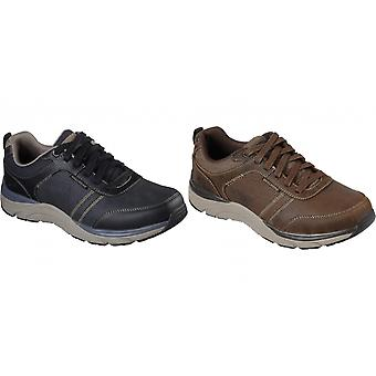 Skechers Mens Sentinal Lunder Leather Trainer