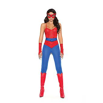 Elegant Moments Womens Spider Girl Super Hero Halloween Costume