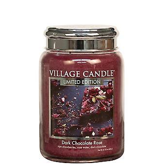 Dorf Kerze 26oz duftende amerikanische große Jar Kerze mit Doppel Wick dunkle Schokolade Rose