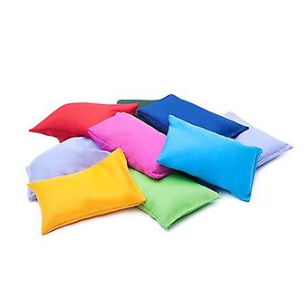 12 pack of Assorted Colours Cotton Fabric Bean Bags for Sports, PE, School, Catching Games, Sensory, Juggling