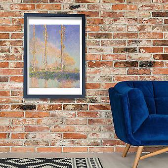Claude Monet - French Poplars Poster Print Giclee