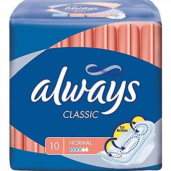 Always Classic with Wings, Normal, 10-Count