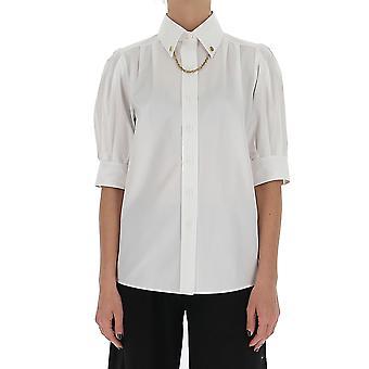 Givenchy Bw60pl11z6100 Frauen's weiße Baumwolle Shirt