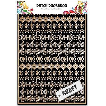 Dutch Doobadoo Dutch Paper Art Kraft flower border A5 479.002.002