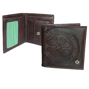 Celtic FC Official Football Gift Luxury Brown Faux Leather Wallet